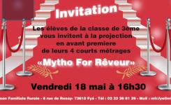 Projection Avant Première Mytho For Rêveur le 18 Mai